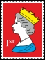Preview: Royal Stamp Queen Red POP (Paint On Print) Art