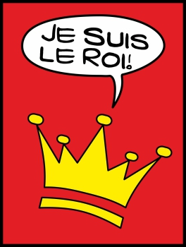 Je suis le roi! POP (Paint On Print) Art