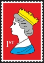 Royal Stamp Poster 70x100cm High Gloss Art Print