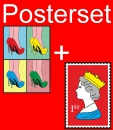 Posterset 2 pcs.  Royal Stamp und Pretty Woman 100x70cm High Gloss Art Print